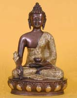 Medicine Buddha Statue, Brass and Copper