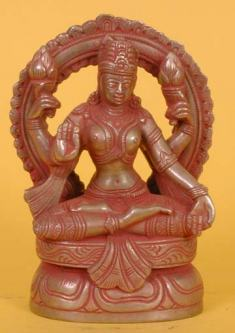 Red Lakshmi Statue from India